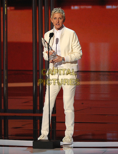 LOS ANGELES, CA - JANUARY 7: Ellen DeGeneres onstage at the People's Choice Awards 2015 at the Nokia Theatre LA Live on January 7, 2015 in Los Angeles, California. <br /> CAP/MPI/FMPG<br /> &copy;FMPG/MPI/Capital Pictures
