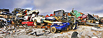 Car panorama at the Yellowknife dump