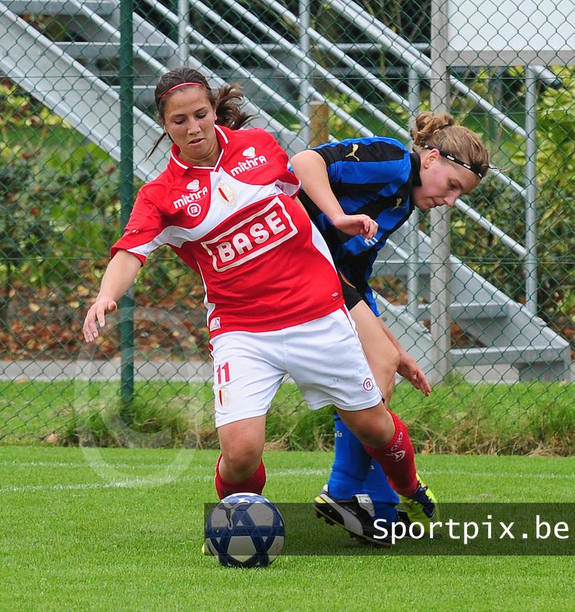Club Brugge - Standard Femina :  Vanity Lewerissa voor Lita Pousseele.fotografe Joke Vuylsteke - vrouwenteam.be