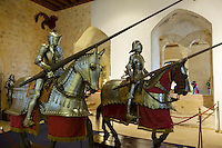 "Alcazar's armory room comes complete with armored riders and horses to ""time travel"" visitors back to medieval time."