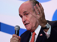 "Washington, DC - September 9, 2016: Former New York City mayor Rudolf ""Rudy"" Giuliani speaks during a conversation with FRC president Tony Perkins at the Values Voter Summit, held at the Omni Shoreham hotel in the District of Columbia, September 9, 2016.  (Photo by Don Baxter/Media Images International)"