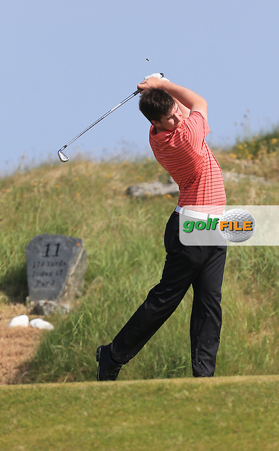 John Hickey (Cork) on the 11th during the 1st round of the Irish Amateur Close Championship 2013 at the Connemara Golf Club Sat  8/6/13<br /> Picture:  Thos Caffrey / www.golffile.ie