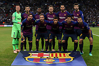 FC Barcelona line up before Tottenham Hotspur vs FC Barcelona, UEFA Champions League Football at Wembley Stadium on 3rd October 2018