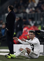 Calcio, Serie A: Juventus - Chievo Verona, Turin, Allianz Stadium, January 21, 2019.<br /> Juventus' Cristiano Ronaldo reacts during the Italian Serie A football match between Juventus and Chievo Verona at Torino's Allianz stadium, January 21, 2019.<br /> UPDATE IMAGES PRESS/Isabella Bonotto