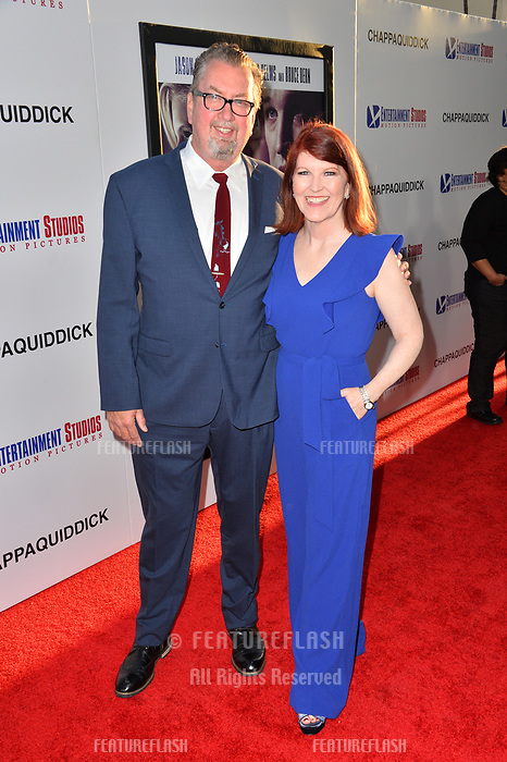 Kate Flannery &amp; Chris Haston at the premiere for &quot;Chappaquiddick&quot; at the Samuel Goldwyn Theatre, Los Angeles, USA 28 March 2018<br /> Picture: Paul Smith/Featureflash/SilverHub 0208 004 5359 sales@silverhubmedia.com