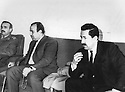 Iraq 1965  <br /> In Baghdad, meeting of Iraqi and Kurdish personalities to discuss a project of decentralization concerning Kurdistan, right, Zayd Ahmed Othman <br /> Irak 1965 <br /> A Baghdad, rencontre d'officiels irakien et kurdes pour discuter d'un projet de decentralisation pour le Kurdistan, a droite, Zayd Ahmed Othamn