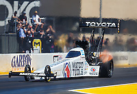 Jul 30, 2016; Sonoma, CA, USA; NHRA top fuel driver Antron Brown during qualifying for the Sonoma Nationals at Sonoma Raceway. Mandatory Credit: Mark J. Rebilas-USA TODAY Sports