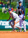 3 March 2010: New York Mets' infielder Ike Davis slides safely into second during a Grapefruit League game against the Atlanta Braves at Champion Stadium in the ESPN Wide World of Sports Complex in Orlando, Florida. The Braves defeated the Mets 9-5 in the Spring Training matchup. Mandatory Credit: Ed Wolfstein Photo