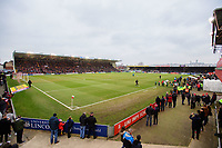 A general view of Sincil Bank, home of Lincoln City FC<br /> <br /> Photographer Chris Vaughan/CameraSport<br /> <br /> The EFL Sky Bet League Two - Lincoln City v Notts County - Saturday 13th January 2018 - Sincil Bank - Lincoln<br /> <br /> World Copyright &copy; 2018 CameraSport. All rights reserved. 43 Linden Ave. Countesthorpe. Leicester. England. LE8 5PG - Tel: +44 (0) 116 277 4147 - admin@camerasport.com - www.camerasport.com