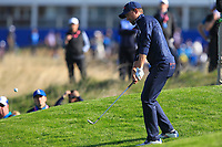 Webb Simpson (Team USA) on the 9th during Saturday Foursomes at the Ryder Cup, Le Golf National, Ile-de-France, France. 29/09/2018.<br /> Picture Thos Caffrey / Golffile.ie<br /> <br /> All photo usage must carry mandatory copyright credit (&copy; Golffile | Thos Caffrey)