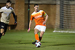 Oliver Shannon (4) of the Clemson Tigers passes the ball during first half action against the Wake Forest Demon Deacons at Spry Soccer Stadium on November 8, 2017 in Winston-Salem, North Carolina.  The Demon Deacons defeated the Tigers 2-1.  (Brian Westerholt/Sports On Film)