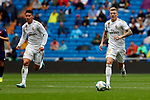 Real Madrid CF's James Rodriguez and Real Madrid CF's Toni Kroos during La Liga match. Aug 24, 2019. (ALTERPHOTOS/Manu R.B.)