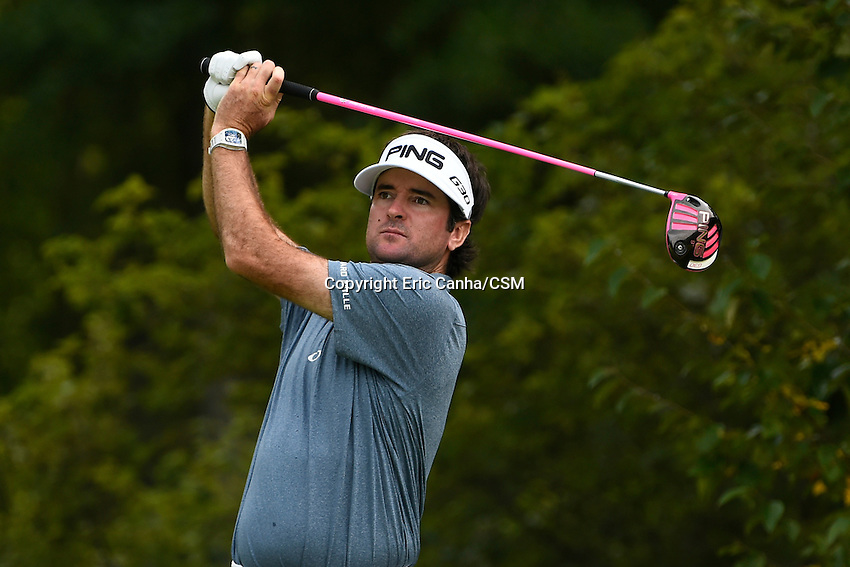 August 31, 2014 -  Norton, Mass. - Bubba Watson drives off the 4th tee during the third  round of the PGA FedEx Cup playoffs, Deutsche Bank Championship, held at the Tournament Players Club in Norton Massachusetts. Eric Canha/CSM