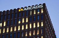 Nederland Amsterdam 2019. Gebouwen aan de Zuidas. Kantoor van Arcadis . Foto Berlinda van Dam / Hollandse Hoogte