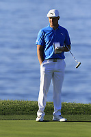 Bryson DeChambeau (USA) on the 7th green during Sunday's Final Round of the 2018 AT&amp;T Pebble Beach Pro-Am, held on Pebble Beach Golf Course, Monterey,  California, USA. 11th February 2018.<br /> Picture: Eoin Clarke | Golffile<br /> <br /> <br /> All photos usage must carry mandatory copyright credit (&copy; Golffile | Eoin Clarke)