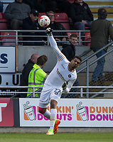 Goalkeeper Jamal Blackman of Wycombe Wanderers during the Sky Bet League 2 match between Leyton Orient and Wycombe Wanderers at the Matchroom Stadium, London, England on 1 April 2017. Photo by Andy Rowland.