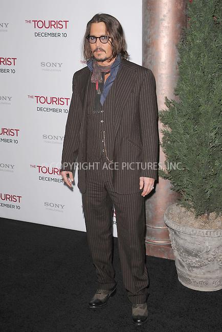 WWW.ACEPIXS.COM . . . . . .December 6, 2010...New York City...Johnny Depp attends the World premiere of 'The Tourist' at Ziegfeld Theater on December 6, 2010 in New York City.....Please byline: KRISTIN CALLAHAN - ACEPIXS.COM.. . .Ace Pictures, Inc: ..tel: (212) 243 8787 or (646) 769 0430..e-mail: info@acepixs.com..web: http://www.acepixs.com .