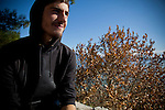 Greek student Dinos Athanasiou,18, in Ioannina.