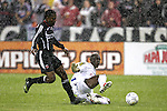 01 March 2007: Olimpia's Hendry Thomas (right) tackles the ball away from DC's Luciano Emilio (left). DC United defeated CD Olimpia of Honduras 3-2 at RFK Stadium in Washington DC in the second leg of a CONCACAF Champions Cup quarterfinal competition.  DC United advanced by an aggregate score of 7-3.