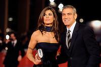 George Clooney e Elisabetta Canalis al festival del cinema di Roma