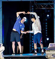 50 m Breaststroke Men<br /> Nicolas Fink USA<br /> Kevin Cordes USA<br /> day 02  09-08-2017<br /> Energy For Swim<br /> Rome  08 -09  August 2017<br /> Stadio del Nuoto - Foro Italico<br /> Photo