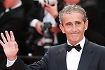 """72nd edition of the Cannes Film Festival in Cannes in Cannes, southern France on May 21, 2019. Red Carpet for the screening of the film """"Once Upon a Time... in Hollywood"""" Former F1 pilot Alain Prost on the red carpet.<br /> © Pierre Teyssot / Maxppp"""