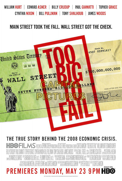 POSTER ART.in Too Big to Fail.*Filmstill - Editorial Use Only*.CAP/FB.Supplied by Capital Pictures.