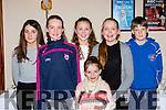 Rachel Doherty, Fiona Dineen, Eva Cronin, Aoife Kissane, scartlett O'Reilly and Ronan O'Mahony who danced at the Fossa Rambling House on Saturday night