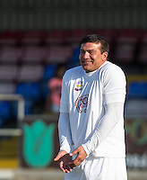 Tamer Hassan (Actor) during the 'Greatest Show on Turf' Celebrity Event - Once in a Blue Moon Events at the London Borough of Barking and Dagenham Stadium, London, England on 8 May 2016. Photo by Andy Rowland.
