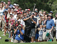 Gary Wilcox/staff... Sergio Garcia makes a fairway shot off the 2nd green during Final Round action in The Players Championship at the TPC Sawgrass Players Stadium Course in Ponte Vedra Beach, Florida, on Sunday, May 11, 2008. Garcia went on to win The Players Championship on Sunday. ..