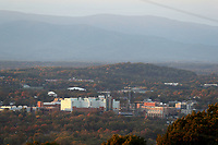 View from the Mountains of the City of Charlottesville, Va.  Photo/Andrew Shurtleff Photography, LLC