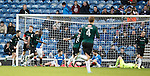 Christian Nade celebrates his goal for Raith Rovers
