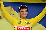 Giulio Ciccone (ITA) Trek-Segafredo is the new race leader Yellow Jersey holder at the end of Stage 6 of the 2019 Tour de France running 160.5km from Mulhouse to La Planche des Belles Filles, France. 11th July 2019.<br /> Picture: Serge Waldbillig   Cyclefile<br /> All photos usage must carry mandatory copyright credit (© Cyclefile   Serge Waldbillig)