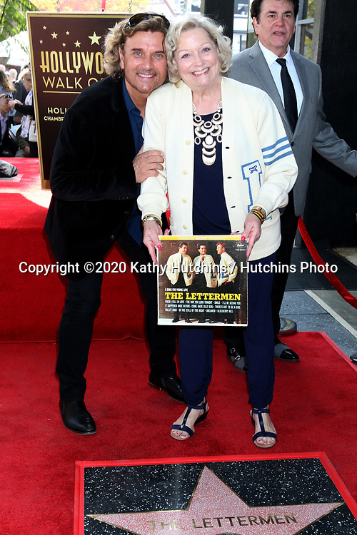 LOS ANGELES - FEB 24:  Darren Dowler, Sue Pike at the The Lettermen Star Ceremony on the Hollywood Walk of Fame on February 24, 2019 in Los Angeles, CA