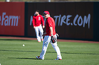 Los Angeles Angels outfielder Mike Trout (27) during Spring Training Camp on February 22, 2018 at Tempe Diablo Stadium in Tempe, Arizona. (Zachary Lucy/Four Seam Images)