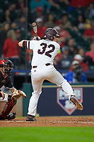 Hunter Vansau (32) of the Mississippi State Bulldogs at bat against the Houston Cougars in game six of the 2018 Shriners Hospitals for Children College Classic at Minute Maid Park on March 3, 2018 in Houston, Texas. The Bulldogs defeated the Cougars 3-2 in 12 innings. (Brian Westerholt/Four Seam Images)