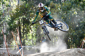 7th September 2017, Smithfield Forest, Cairns, Australia; UCI Mountain Bike World Championships; Greg Minnaar (RSA) from SANTA CRUZ SYNDICATE during downhill practice