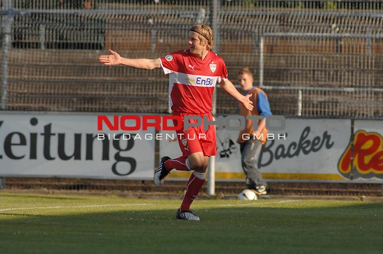 3. FBL 2008/2009 36. Spieltag RŁckrunde BSV Kickers Emden vs. VfB Stuttgart II, TorschŁtze zum 1:0 fŁr Stuttgart Sven Schipplock (Stuttgart #22) , Foto © nph (nordphoto)