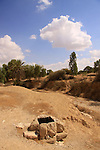Israel, Northern Negev, water cistern in Sayeret Shaked Park