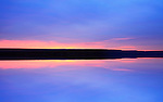A Symmetrical Blue Sunset Sky And Nature Background