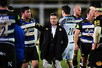 Bath Rugby Head Coach Mike Ford looks on after the match. Aviva Premiership match, between Bath Rugby and Newcastle Falcons on March 18, 2016 at the Recreation Ground in Bath, England. Photo by: Patrick Khachfe / Onside Images