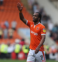 Blackpool's Nathan Delfouneso applauds the fans at the final whistle <br /> <br /> Photographer Stephen White/CameraSport<br /> <br /> The EFL Sky Bet League One - Blackpool v Fleetwood Town - Monday 22nd April 2019 - Bloomfield Road - Blackpool<br /> <br /> World Copyright © 2019 CameraSport. All rights reserved. 43 Linden Ave. Countesthorpe. Leicester. England. LE8 5PG - Tel: +44 (0) 116 277 4147 - admin@camerasport.com - www.camerasport.com<br /> <br /> Photographer Stephen White/CameraSport<br /> <br /> The EFL Sky Bet Championship - Preston North End v Ipswich Town - Friday 19th April 2019 - Deepdale Stadium - Preston<br /> <br /> World Copyright © 2019 CameraSport. All rights reserved. 43 Linden Ave. Countesthorpe. Leicester. England. LE8 5PG - Tel: +44 (0) 116 277 4147 - admin@camerasport.com - www.camerasport.com