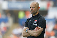 Rotherham United manager Paul Warne watches the game from the touch line during the Sky Bet Championship match between Swansea City and Rotherham United at the Liberty Stadium, Swansea, Wales, UK. Friday 19 April 2019