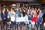 Tomas Kelliher husband and the family of friends of the late Sheila McGillicuddy-Kelliher presented a cheque of €57,167,47 to Ted Moynihan for the Kerry Pallative Care in Scotts Hotel on Friday night