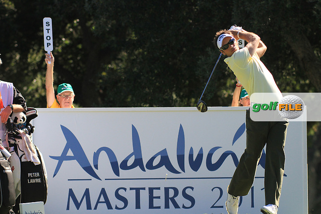 Nick Dougherty (ENG) during the 2nd day at the  Andalucía Masters at Club de Golf Valderrama, Sotogrande, Spain. .Picture Fran Caffrey www.golffile.ie