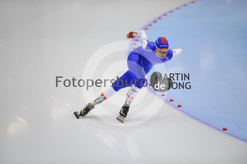 SCHAATSEN: HEERENVEEN: IJsstadion Thialf, 29-12-2012, Seizoen 2012-2013, KPN NK allround, 1500m Dames, Irene Schouten, ©foto Martin de Jong