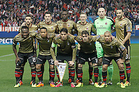 AC Milan's team photo during Champions League 2013/2014 match.March 11,2014. (ALTERPHOTOS/Acero)