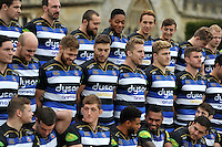 Bath Rugby players look on during the team photo at a Bath Rugby photocall. Bath Rugby Media Day on December 1, 2015 at Farleigh House in Bath, England. Photo by: Patrick Khachfe / Onside Images