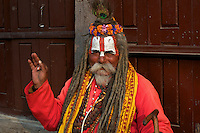 Sadhu at Durbar Square and old Town Area