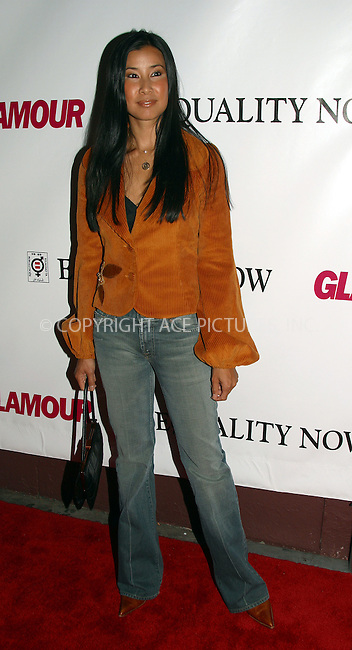 Lisa Ling at the Glamour Magazine's benefit, 'Equality Now,' in New York. September 8, 2003. Please byline: NY Photo Press.   ..*PAY-PER-USE*      ....NY Photo Press:  ..phone (646) 267-6913;   ..e-mail: info@nyphotopress.com